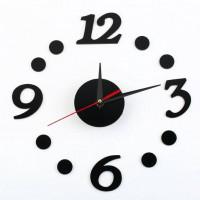 Nalepovacie nástenné hodiny, Blacky 3/12, 40cm
