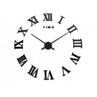 3D Nalepovacie hodiny DIY Clock Evevo 8274XL, Roman Black, 90-130cm