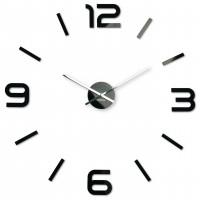 3D Nalepovacie hodiny DIY ADMIRABLE SWEEP z5400G black, 80cm