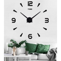 3D Nalepovacie hodiny DIY Clock XL Novo 90-130cm