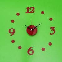Nalepovacie nástenné hodiny 7A7, RED 3/12, 40cm
