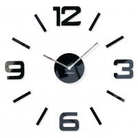3D Nalepovacie hodiny DIY ADMIRABLE sweep z54g-1, čierne 50-75cm