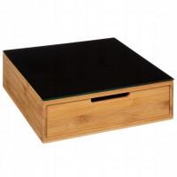 Bambusový box na kapsule so sklenenou doskou 5Five 7753