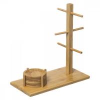Bambusový stojan na šálky s podtáckami 5Five 9652