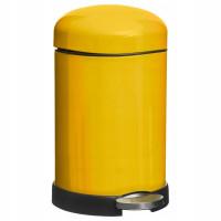 Kovový retro odpadkový kôš 5Five 337C, žltý