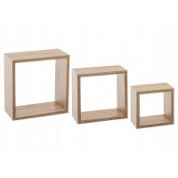 Sada nástenných políc Cube 5Five 956C, 3 kusy