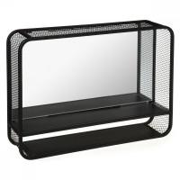 Kovové nástenné zrkadlo s poličkou Atmosphera 2048, 55 cm