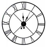 Nástenné hodiny Italy 80 cm, čierne