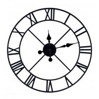 Nástenné hodiny Romain 50 cm, čierne