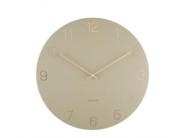 Nástenné hodiny Karlsson KA5762OG Charm Engraved Numbers, 40 cm