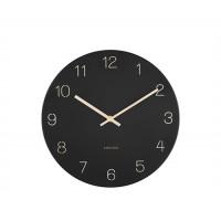 Nástenné hodiny Karlsson KA5788BK Charm Engraved Numbers, 30 cm