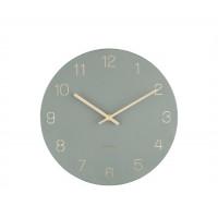 Nástenné hodiny Karlsson KA5788GR Charm Engraved Numbers, 30 cm