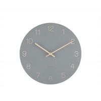 Nástenné hodiny Karlsson KA5788GY Charm Engraved Numbers, 30 cm