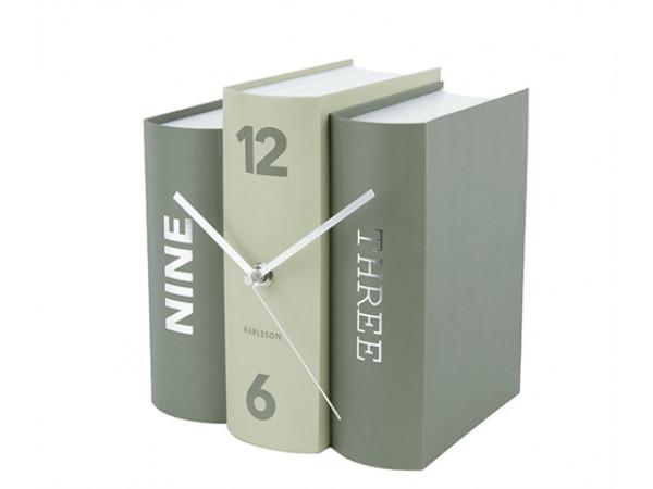 Stolové hodiny Karlsson KA5756GR, Kniha 20 cm