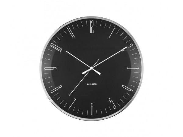 Nástenné hodiny Karlsson Dragonfly, Dome glass KA5754BK, 40cm