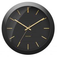 Nástenné hodiny Karlsson Globe 5840BK, 40 cm