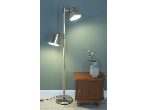 Podlahová lampa Leitmotiv Rubi 150cm, satén