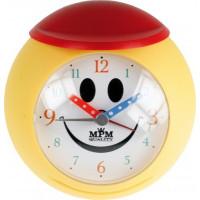 Budík MPM, 2565.1020 - žltá/červená, 10cm