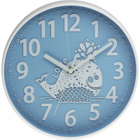 Detské nástenné hodiny MPM, 3229.30 - modrá, 25cm