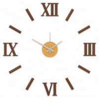 Nalepovacie nástenné hodiny, MPM 3772.50 hnedé, 60cm