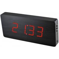 Digitálny LED budík/ hodiny MPM s dátumom a teplomerom 3672.90, red led, 25cm