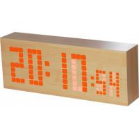 Digitálny LED budík/ hodiny MPM s dátumom a teplomerom C02.3571.00, 26cm