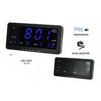 Digitálny LED budík/ hodiny MPM s dátumom a teplomerom C02.3568, 21cm