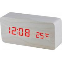 Digitálny LED budík MPM s dátumom a teplomerom C02.3564.00 RED, 15cm