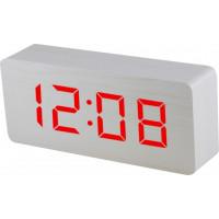 Digitálny LED budík MPM s dátumom a teplomerom C02.3565.00 RED, 21cm