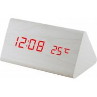 Digitálny LED budík MPM s dátumom a teplomerom C02.3570.00 RED, 15cm