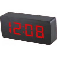 Digitálny LED budík MPM s dátumom a teplomerom C02.3565.90 RED, 21cm