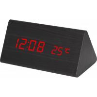 Digitálny LED budík MPM s dátumom a teplomerom C02.3570.90 RED, 15cm