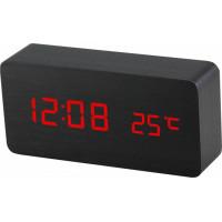 Digitálny LED budík MPM s dátumom a teplomerom C02.3564.90 RED, 15cm