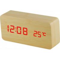 Digitálny LED budík MPM s dátumom a teplomerom C02.3564.51 RED, 15cm