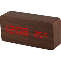 Digitálny LED budík MPM s dátumom a teplomerom C02.3564.50 RED, 15cm