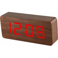 Digitálny LED budík MPM s dátumom a teplomerom C02.3565.50 RED, 21cm