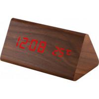 Digitálny LED budík MPM s dátumom a teplomerom C02.3570.50 RED, 15cm
