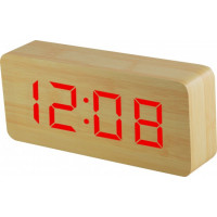 Digitálny LED budík MPM s dátumom a teplomerom C02.3565.51 RED, 21cm
