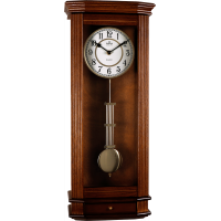 Drevené nástenné hodiny s kyvadlom MPM E03.3892.50, 62cm