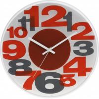 Nástenné hodiny MPM, 3233.6092 - oranžová/šedá, 30cm