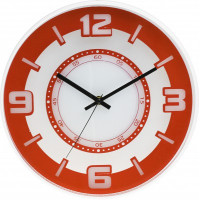 Nástenné hodiny MPM, 3220.60 - oranžová, 30cm