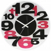 Nástenné hodiny MPM, 3233.9020 - čierna/červená, 30cm