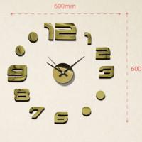 Nalepovacie nástenné hodiny, MPM 3776,80- zlatá, 60cm