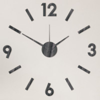 Nalepovacie nástenné hodiny, MPM 3769/90 čierne, 60cm