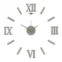 Nalepovacie nástenné hodiny, MPM 3770.70, strieborné, 60cm