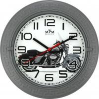Nástenné hodiny MPM 3688, Motorka 22cm