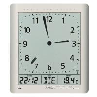 Digitálne nástenné aj stolové hodiny 5898 AMS riadené rádiovým signálom 24cm
