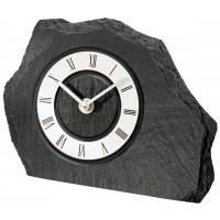 Bridlicové stolové hodiny AMS 1104, 20 cm