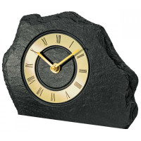 Bridlicové stolové hodiny AMS 1105, 20 cm