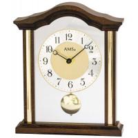 Luxusné drevené stolové hodiny 1174/1 AMS 23cm